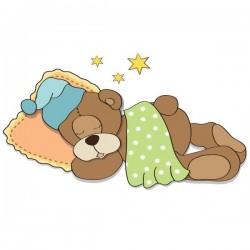 Vinil infantil urso a dormir