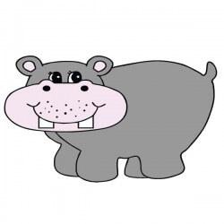 Vinil infantil hipopótamo 1