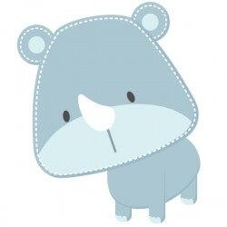 Sticker infantil rinoceronte 1
