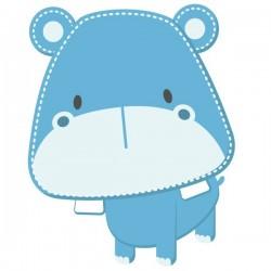 Vinil infantil de hipopótamo