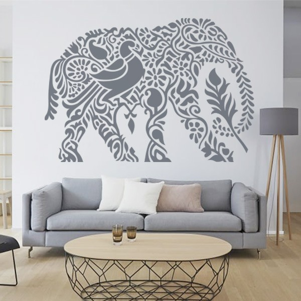 Autocolante elefante Índio