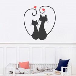 Autocolante gatos apaixonados