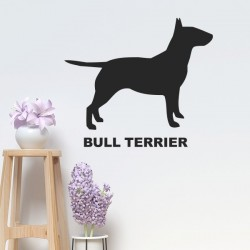 Autocolante bull terrier